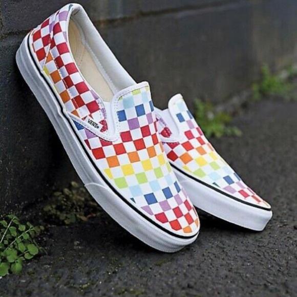 Checkerboard Color Slide Ons   Poshmark